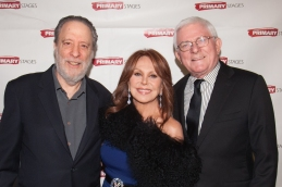 Honoree Julian Schlossberg, Marlo Thomas and Phil Donahue. Primary Stages 30th Anniversary Gala 2014 ©Hechler Photographers