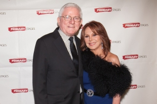 Phil Donahue and Marlo Thomas. Primary Stages 30th Anniversary Gala 2014 ©Hechler Photographers