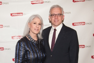 Jamie deRoy and Honoree Donald Margulies. Primary Stages 30th Anniversary Gala 2014 ©Hechler Photographers