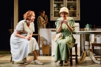 "Harriet Harris, Hallie Foote, and Rebecca Brooksher in the Primary Stages production of ""The Roads to Home"" by Horton Foote."