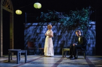 "Rebecca Brooksher and Dan Bittner in the Primary Stages production of ""The Roads to Home"" by Horton Foote."
