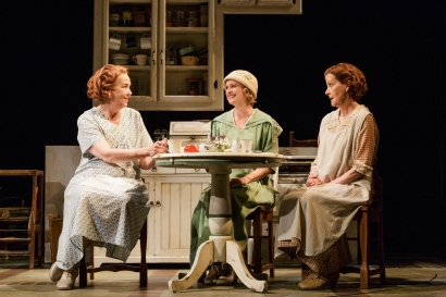 "Harriet Harris, Rebecca Brooksher, and Hallie Foote in the Primary Stages production of ""The Roads to Home"" by Horton Foote."