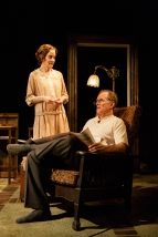 "Hallie Foote and Devon Abner in the Primary Stages production of ""The Roads to Home"" by Horton Foote."