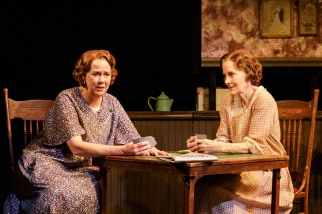 "Harriet Harris and Hallie Foote in the Primary Stages production of ""The Roads to Home"" by Horton Foote."
