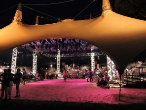 The Theatre Tent at the Boscobel House and Gardens