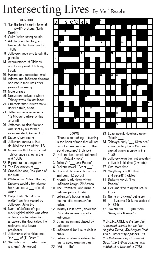 It's just a picture of Washington Post Sunday Crossword Printable intended for crossword clue