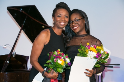 Sharon Washington and student Sydney Forbes speak about their experiences with the Primary Stages Free Student Matinee Program