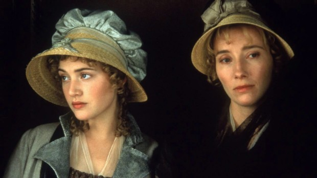 Kate Winslet and Emma Thompson as the Dashwood sisters in Sense and Sensibility