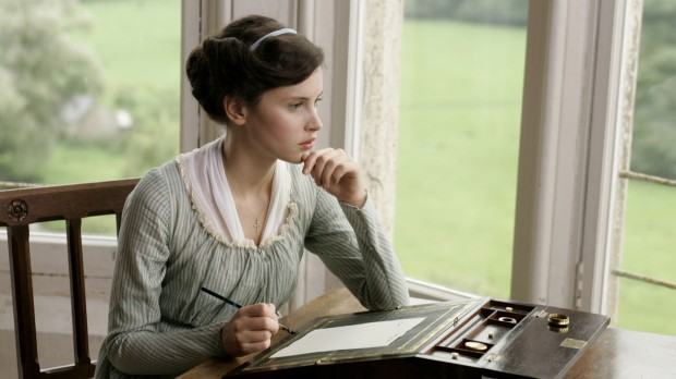 Felicity Jones in Northanger Abbey