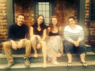 Primary Stages ESPA Drills Retreat writers staying at Theresa's home in Dorset, VT summer of 2014.