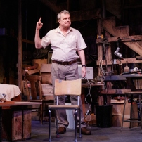 "John Procaccino in Theresa Rebeck's ""Downstairs"" currently at Primary Stages."