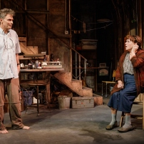 "Tim Daly and Tyne Daly in Theresa Rebeck's ""Downstairs"" currently at Primary Stages."